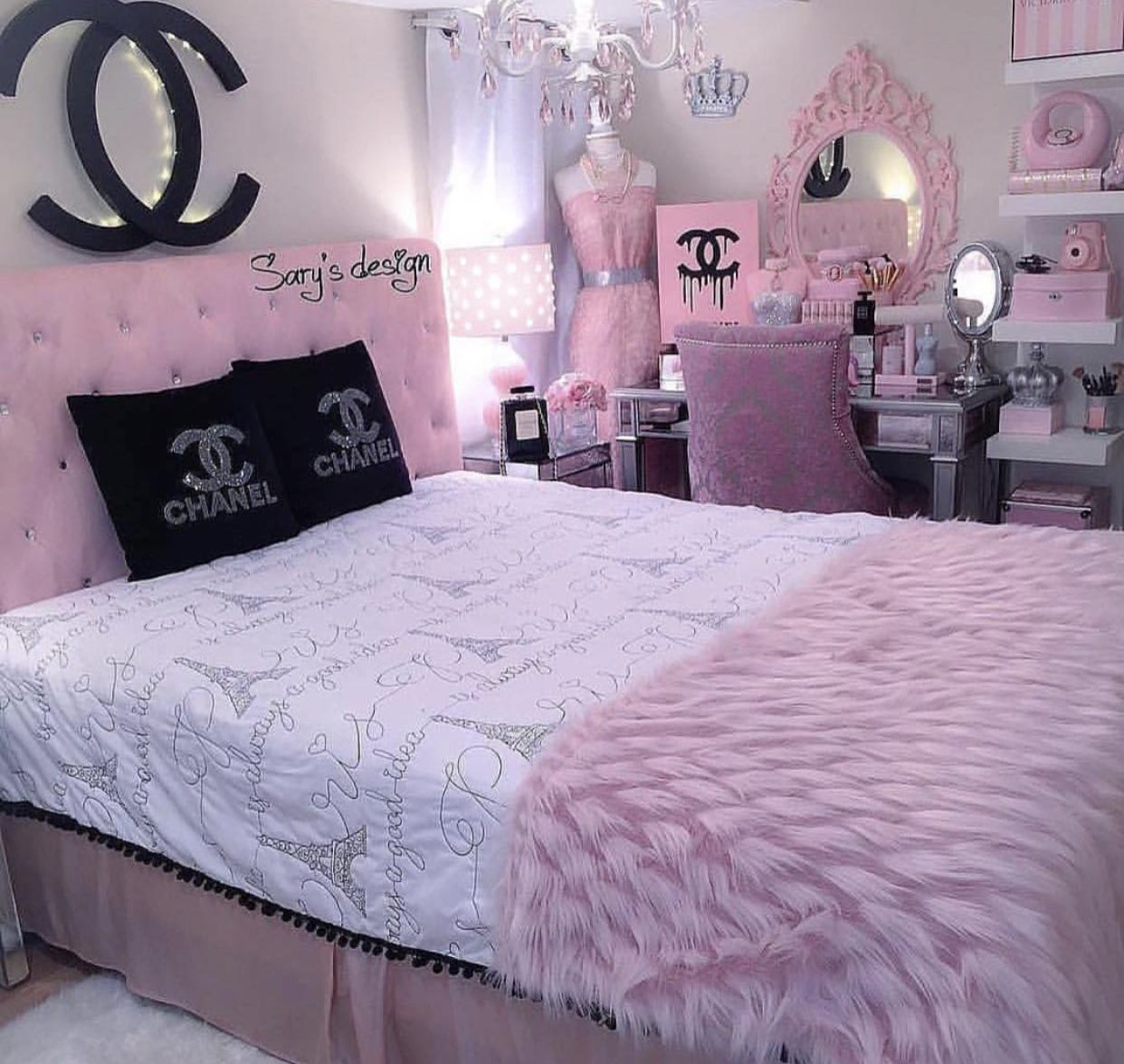 Paris Channel Bedroom Girl Bedroom Decor Girl Bedroom Designs Bedroom Design