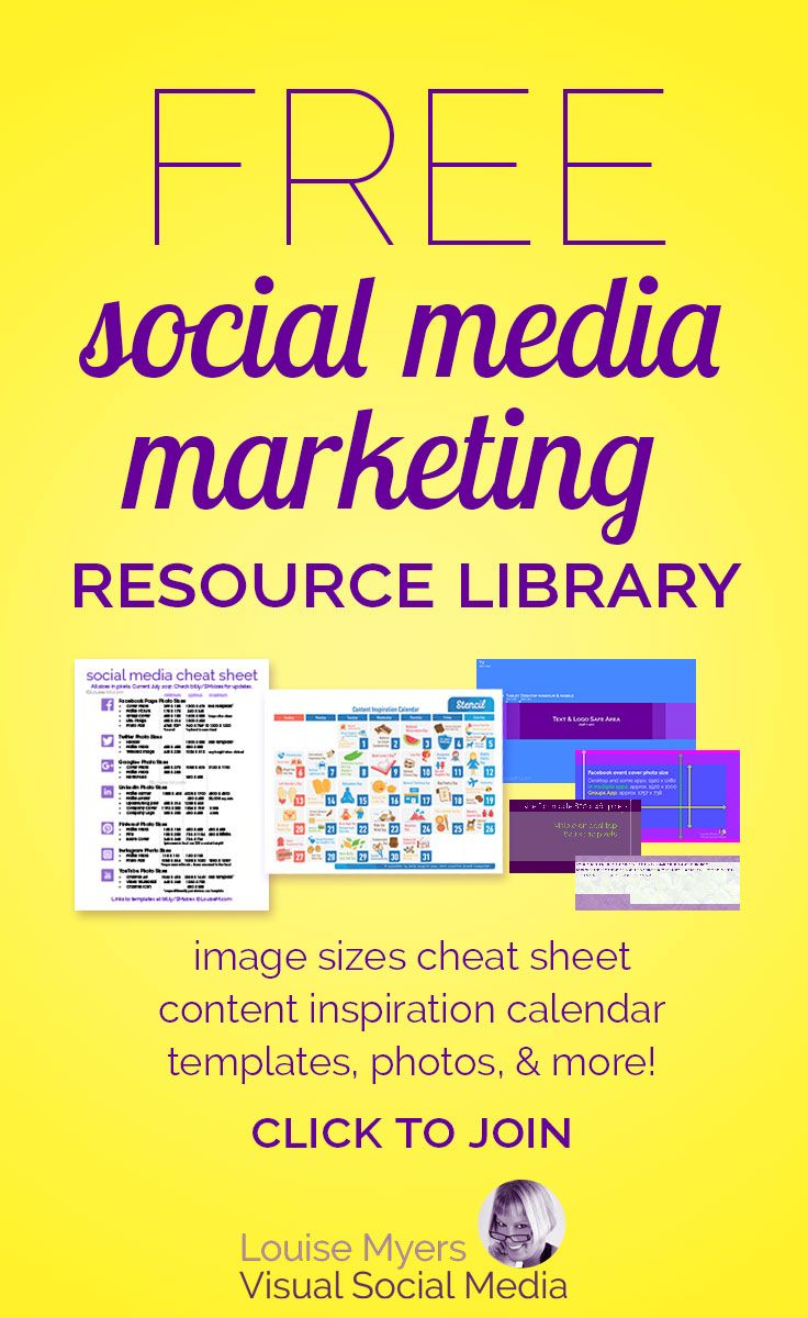 Free Access Templates For Small Business free access to my social media marketing content library