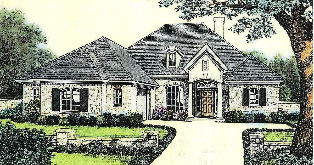 Plan 48105FM: Attractive European Cottage House Plan | Cottage house ...