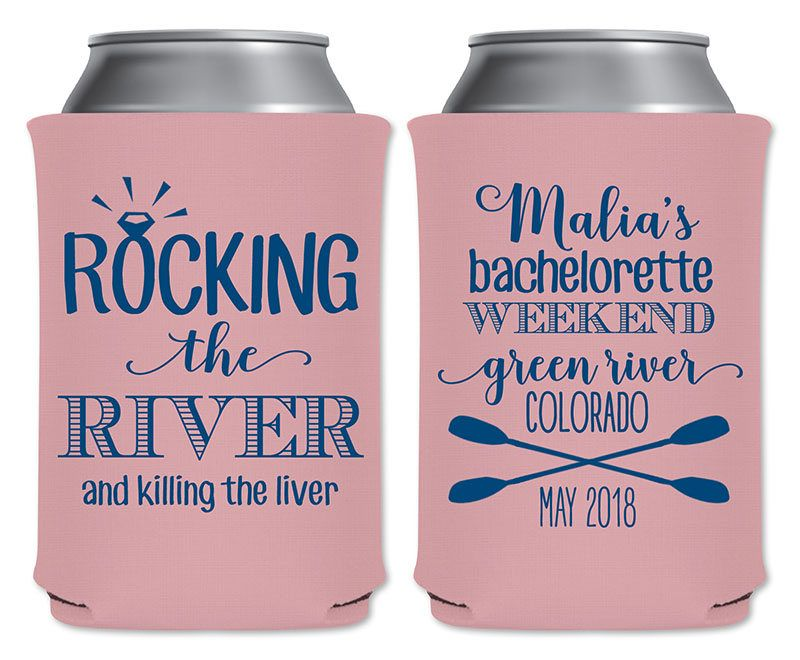 Personalized Can Cooler Bachelorette Party Favors Wedding Favors Bachelorette Gifts Bachelorette Can Cooler Custom Can Cooler