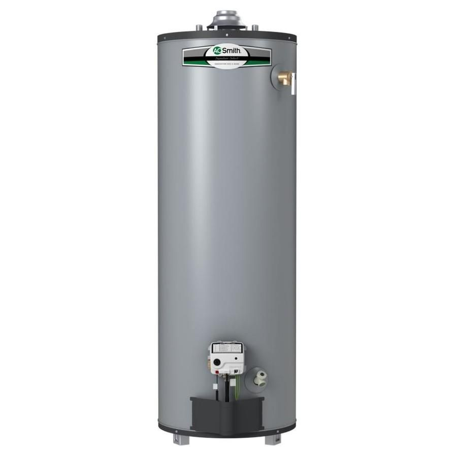 A O Smith Signature Select 40 Gallon Tall 9 Year Limited Natural Gas Water Heater G9 T4040nv In 2020 Natural Gas Water Heater Gas Water Heater Water Heater