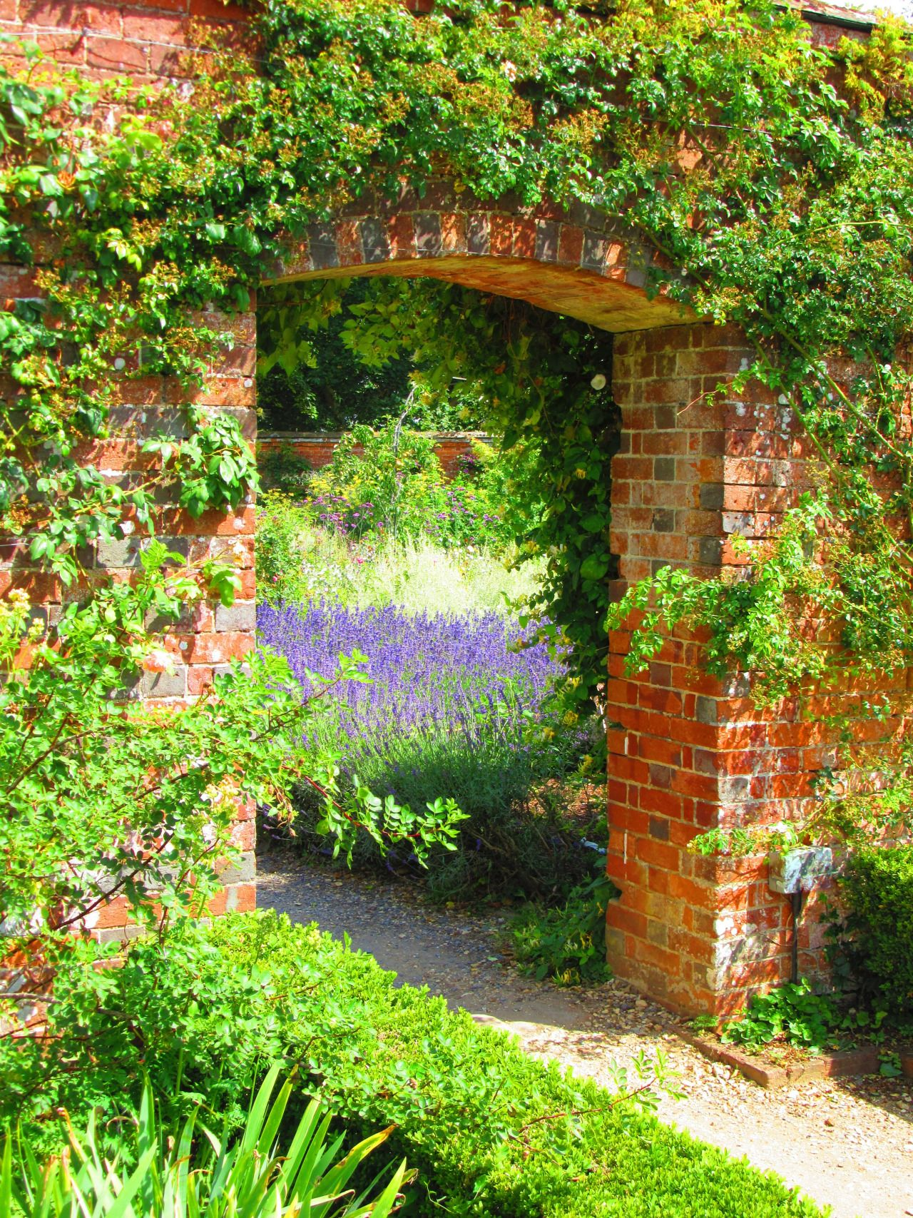 gate to walled garden mottsifont abbey romsey england all