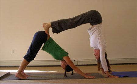 pinlyss danielle on partner yoga poses in 2020  yoga