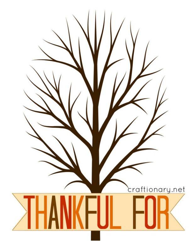 Thankful Tree Free Printable Thanksgiving Thankful Tree