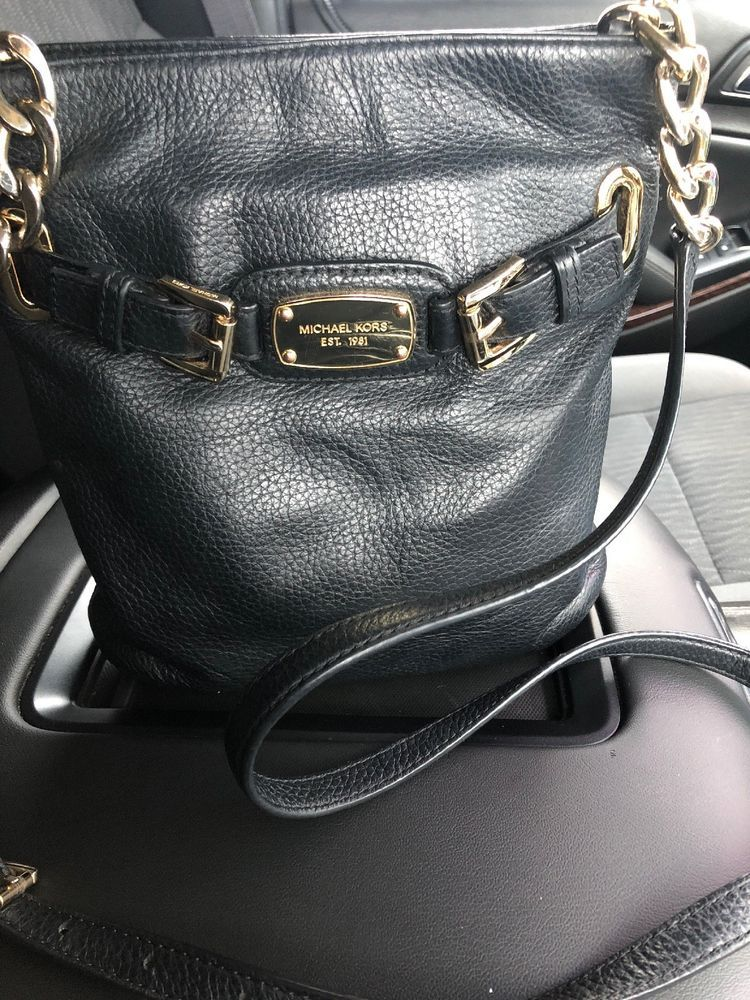 160e1b13a84ada Michael Kors Hamilton Large Leather Crossbody - Black #fashion #clothing  #shoes #accessories #womensbagshandbags ...