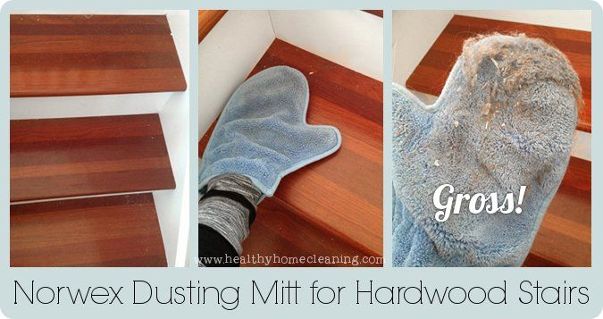 Easiest Way To Clean Hard Wood Stairs? The Norwex Dusting Mitt! OMG, My #1  Pet Peeve....sweeping The Stairs And I Have Lots Of Them. Problem Solved!