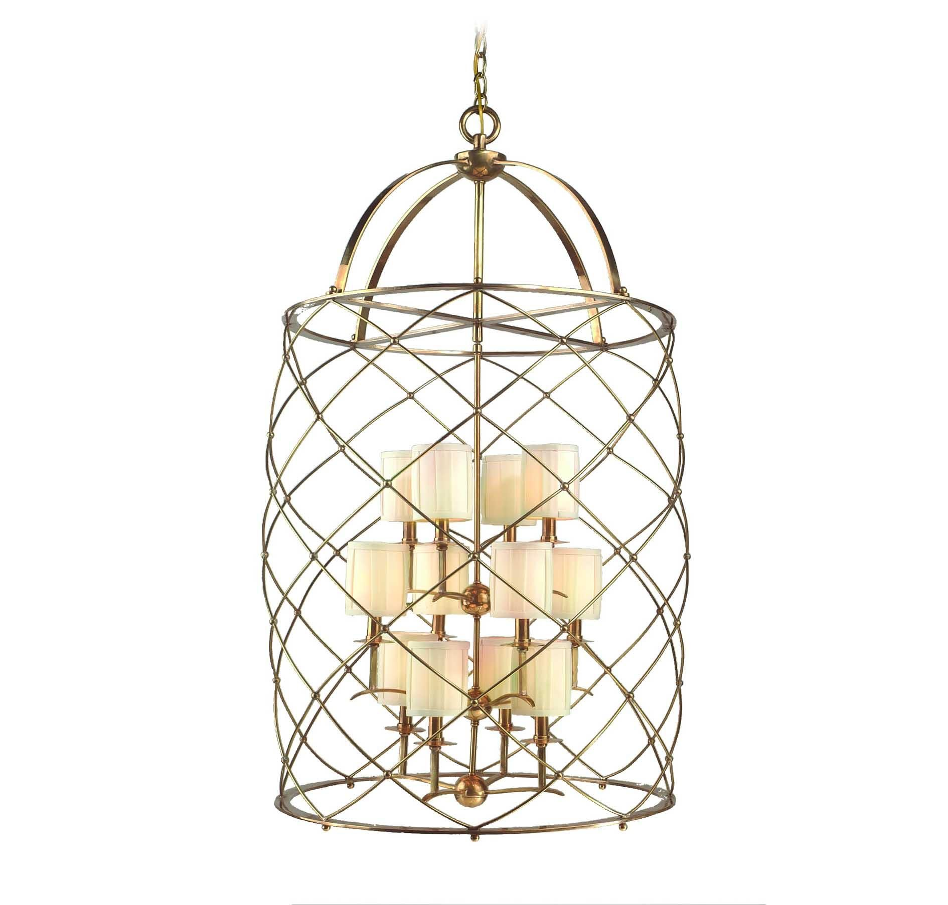 Corbett Lighting Argyle Solid Brass 12-Lt Foyer Chandelier in Brands, Corbett Lighting, Corbett Lighting Chandeliers: LightsOnline.com