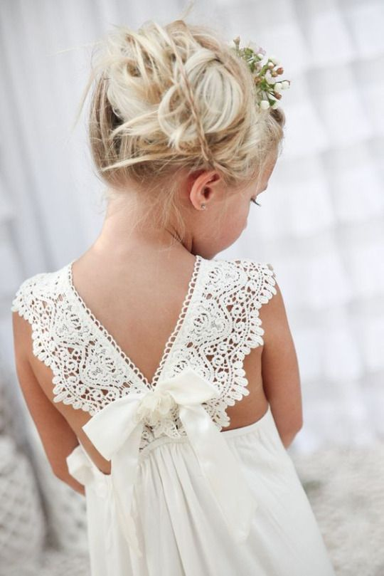 A Whimsical Romance Long Flower Girl Dresses Cute Flower