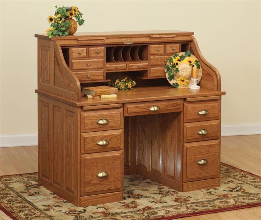 "Amish Executive Roll Top Desk 50"""