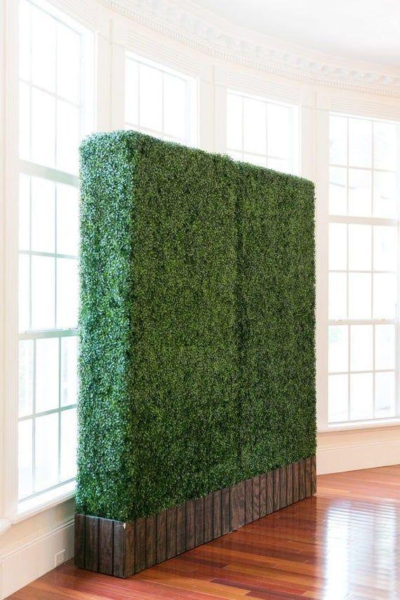 artificial boxwood hedge greenery panels 20 x20 pc 6pc on interior using artificial boxwood panels with flowers id=37226
