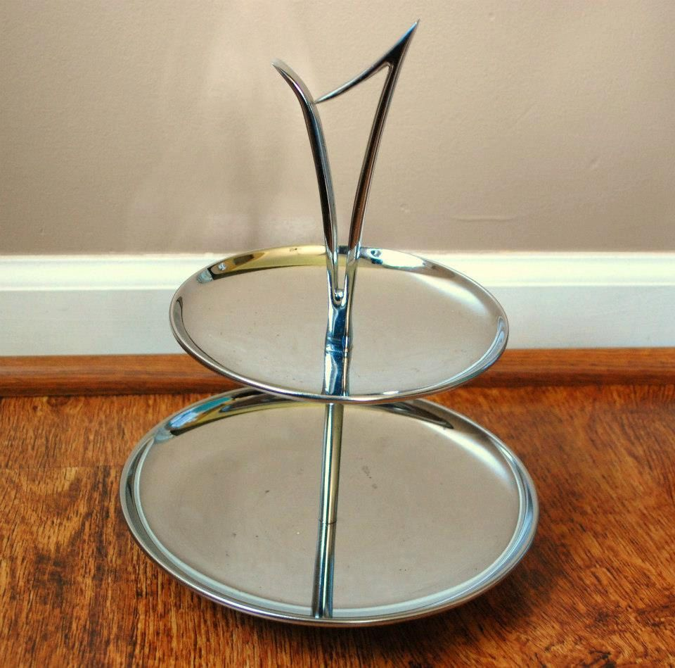 1950 S Kromex Tidbit Tray 2 Tier Serving Tray Thanksgiving Christmas Kitchen Decor 14 00 Via Christmas Kitchen Decor Retro Kitchen Accessories Vintage Trays