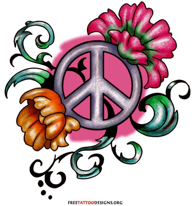 Eye-Catching Ankle Tattoo Designs | Peace sign tattoos ... |Small Tattoo Designs Peace Sign