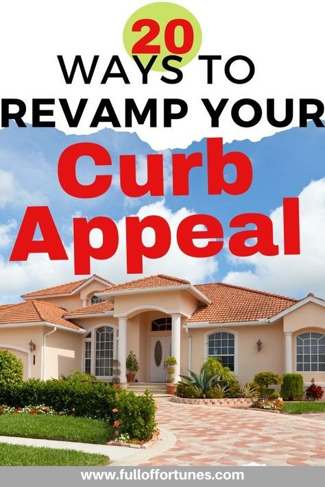 So what if you're stuck at home at least your curb appeal is on point! Here are 20 ways to spruce up your curb appeal affordably.   #curbappeal  #curbappealmatters  #frontporch  #frontporchdecor  #porchdecor #frontdoormakeover #firstimpressionsmatter