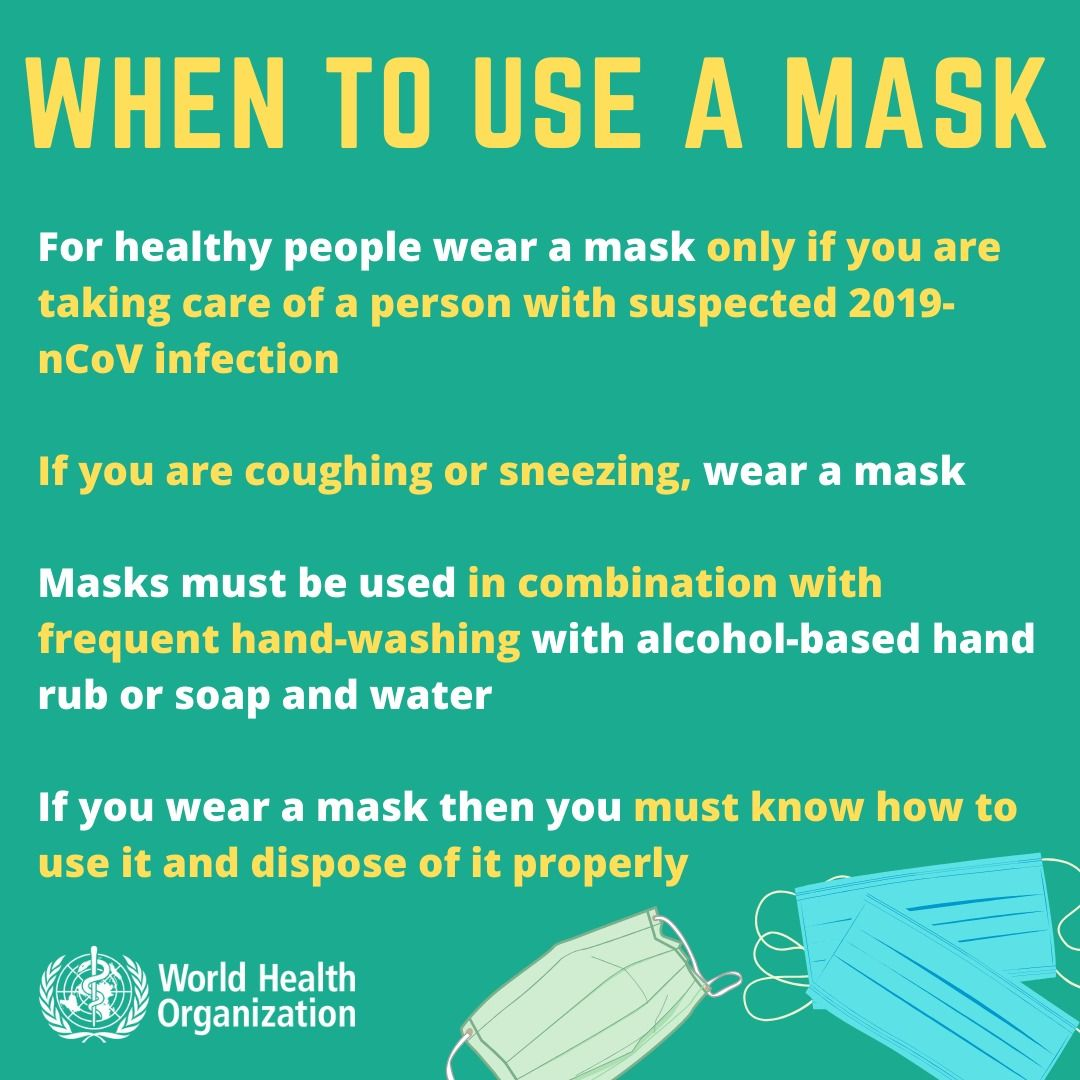 These are tips on when to use a mask to protect yourself