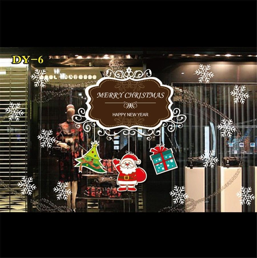 large christmas sticker shop display window wall santa decor large christmas sticker shop display window wall santa decor adhesive decal xmas allforyou