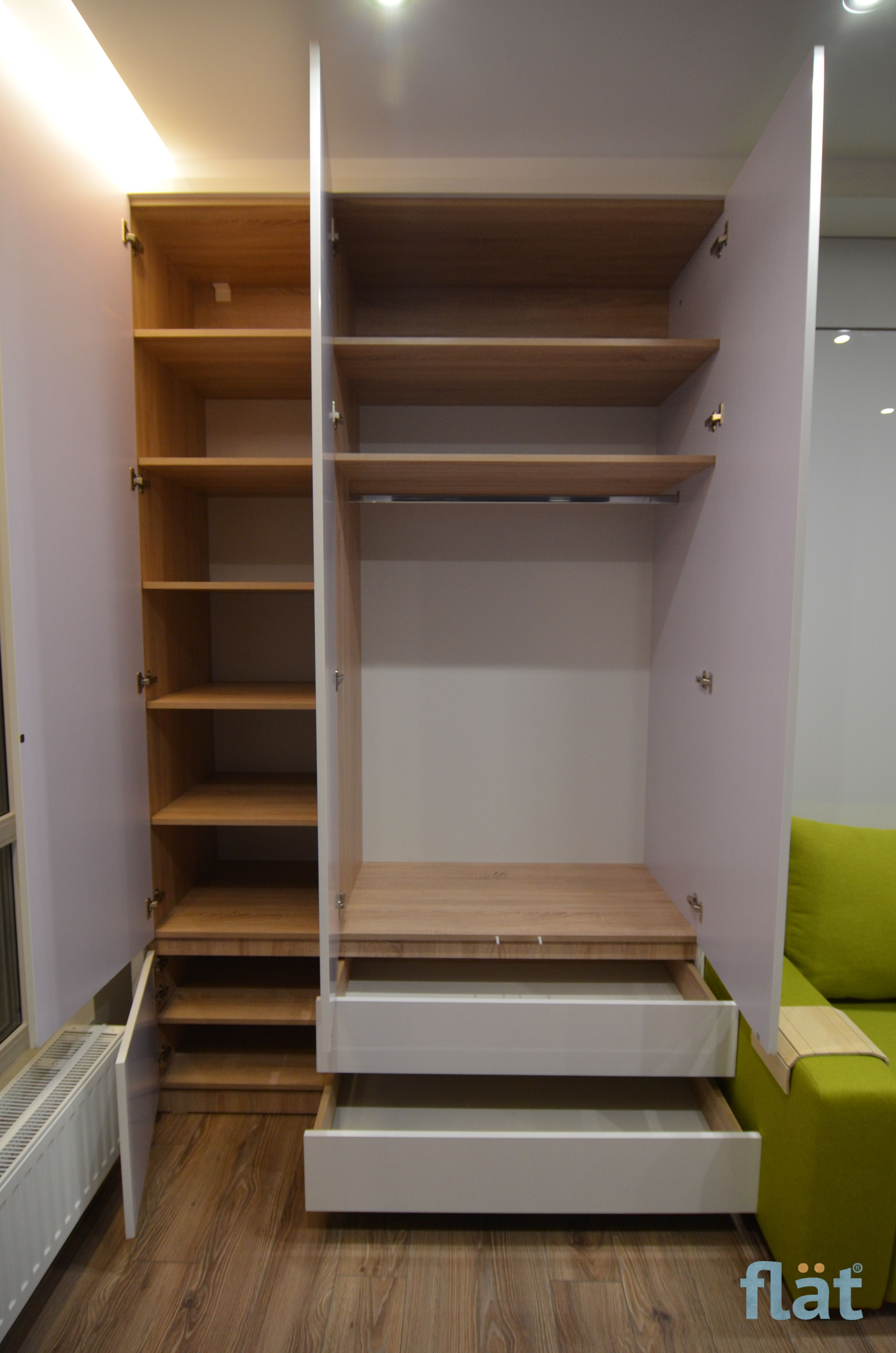 Big Wall. Queen size wall bed and storage. Шкаф кровать