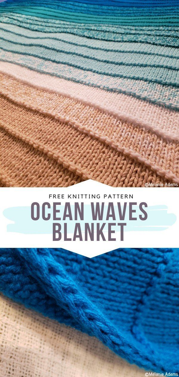 How to Knit Ocean Waves Blanket