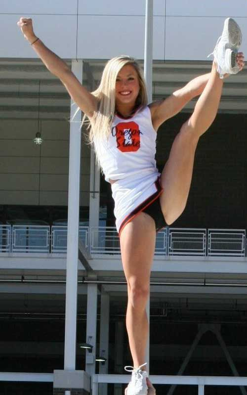 Cheerleaders upskirts football college