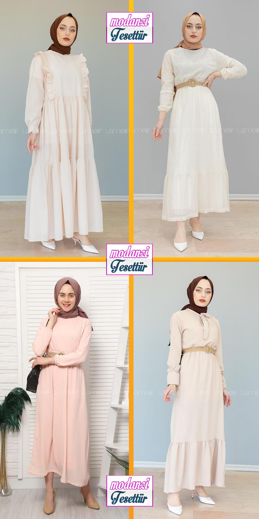 Lamelif Tesettur Elbise Modelleri 5 2020 Reformation Clothing Lamelif Elbise 2020 Elbise Elbise Modelleri Basortusu Modasi