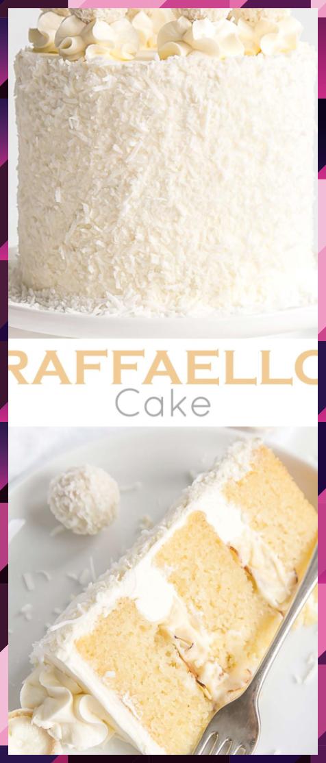 Raffaello Cake Coconut Almond Cake Mely Cake In 2020 Almond Cakes Easy Cake Recipes Coconut Chocolate Cake