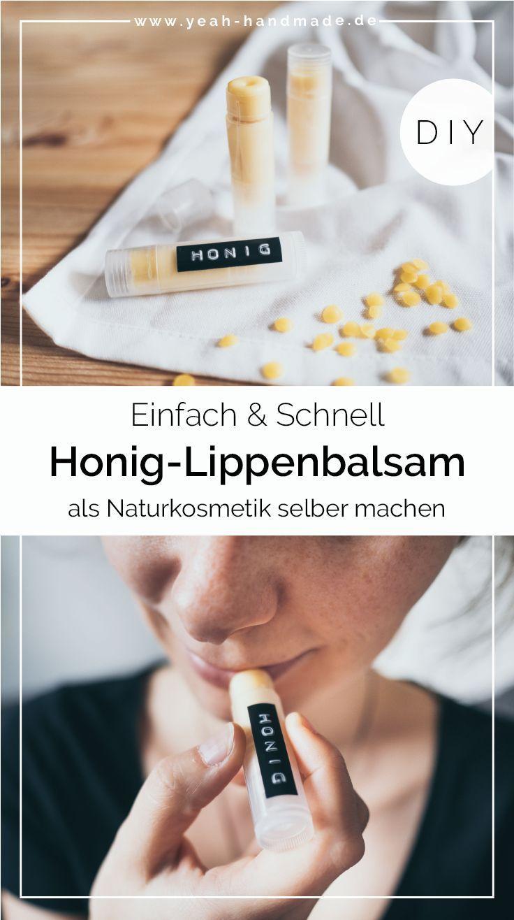 DIY Lippenbalsam selber machen mit Honig • Yeah Handmade