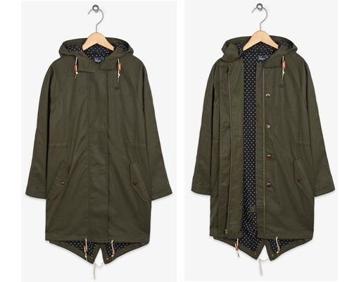 Fred Perry oversized fishtail parka for women | fall/winter ...
