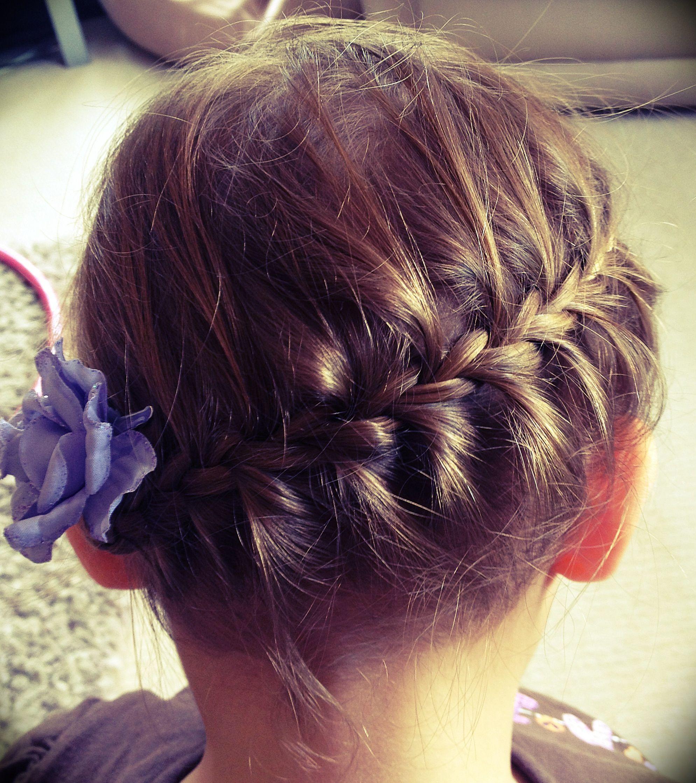 Girls hair style for shot and thin hair wedding hair pinterest