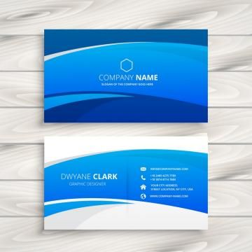 Blue Wave Business Card Vector Design Illustration Vector Business Card Business Cards Vector Templates Visiting Cards