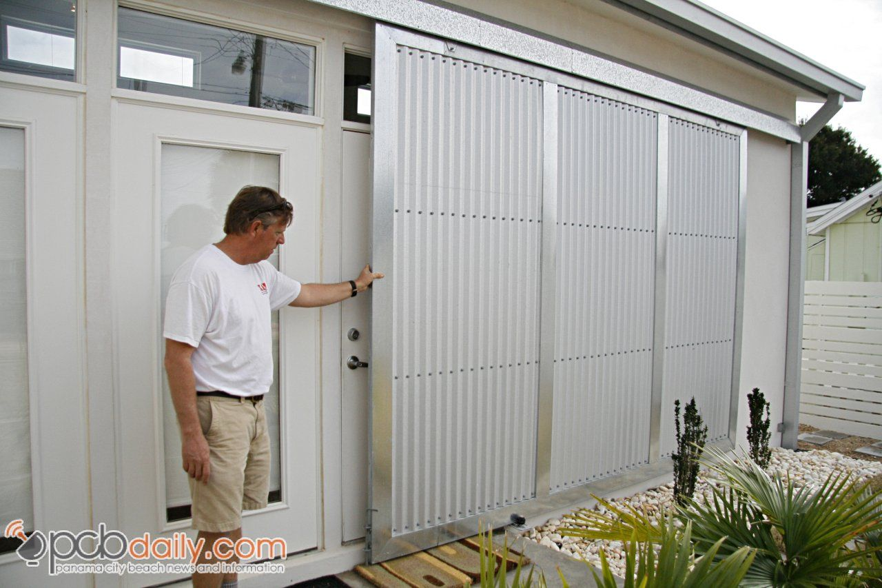 Sliding Shutters That Lock Down Ultra Modern Design Comes