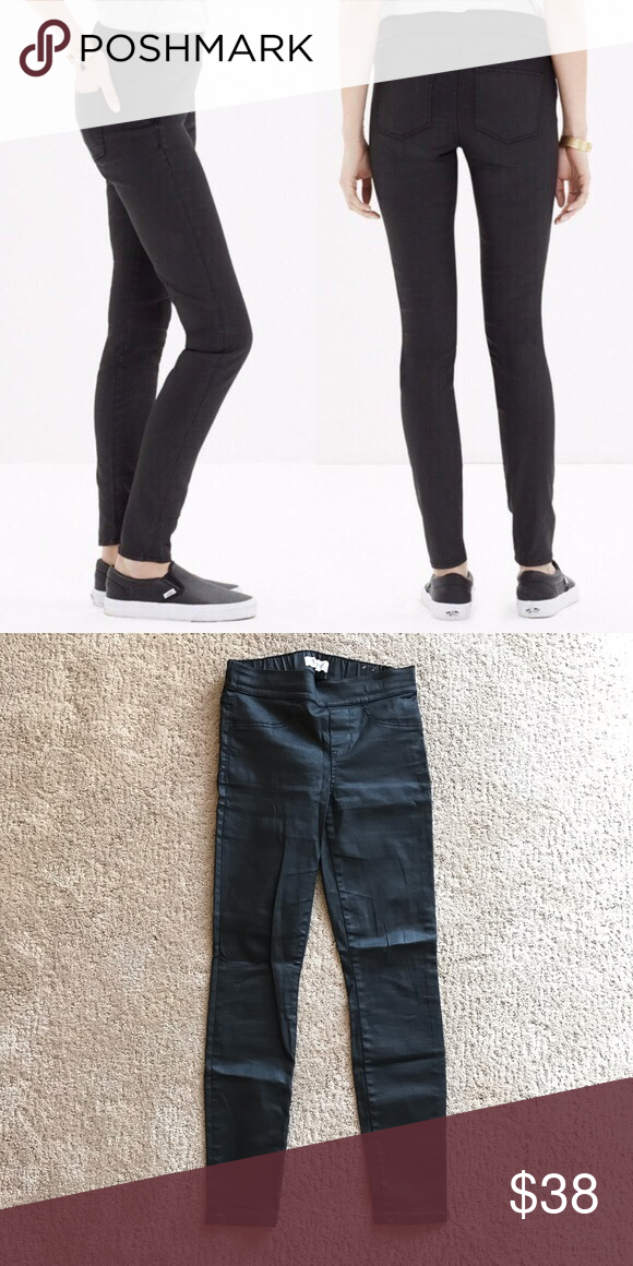 a8080bacd6ad9 Madewell Coated Black Leggings 26 EUC. A laid-back pull-on style in ...