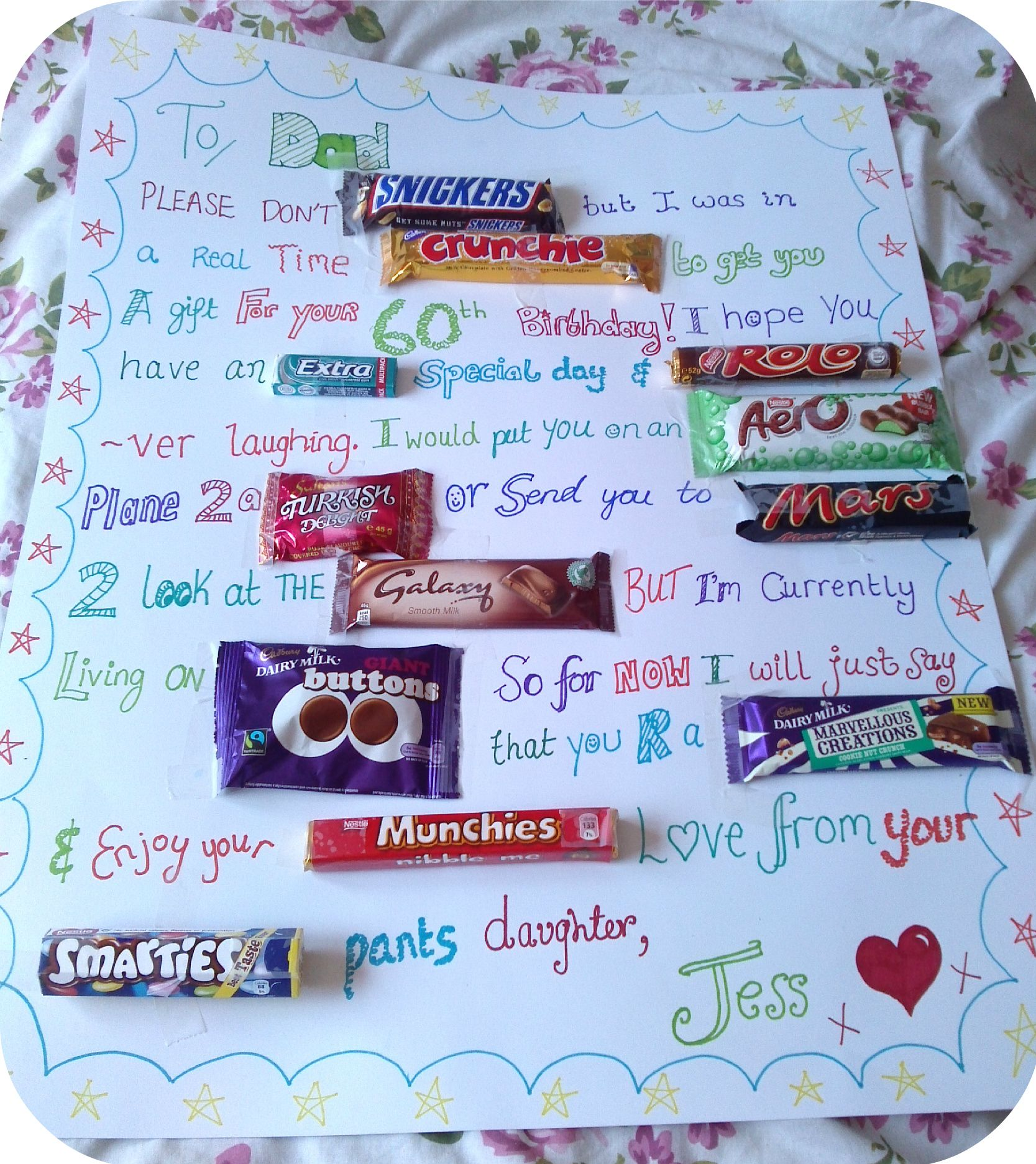 Easy Inexpensive Gift For Dads Crafty Father Dad Chocolate