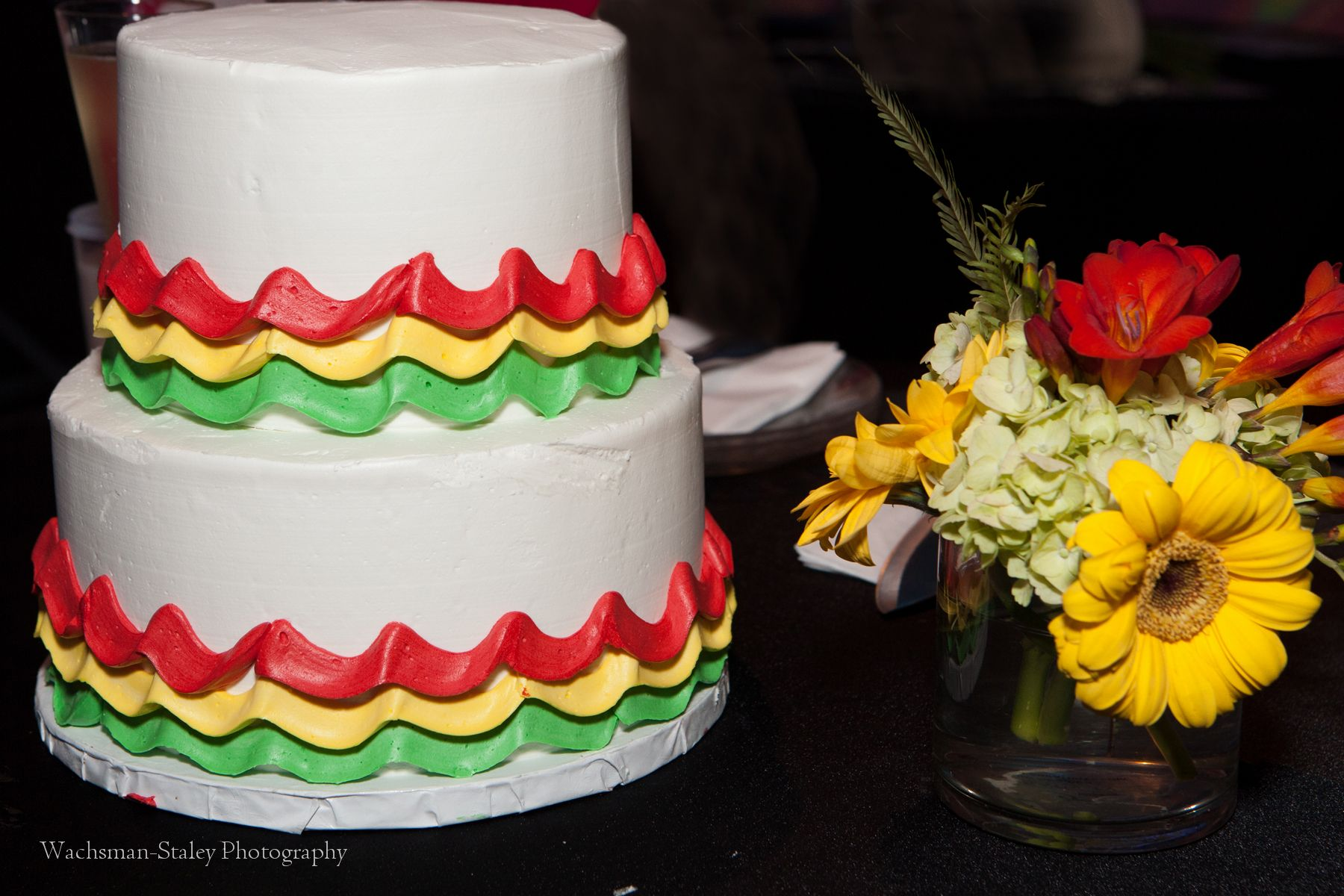 Bob marley - Hard Rock - Red - Green - Yellow - Wedding - Design by DB Creativity - PC: Wachsman-Staley Photography