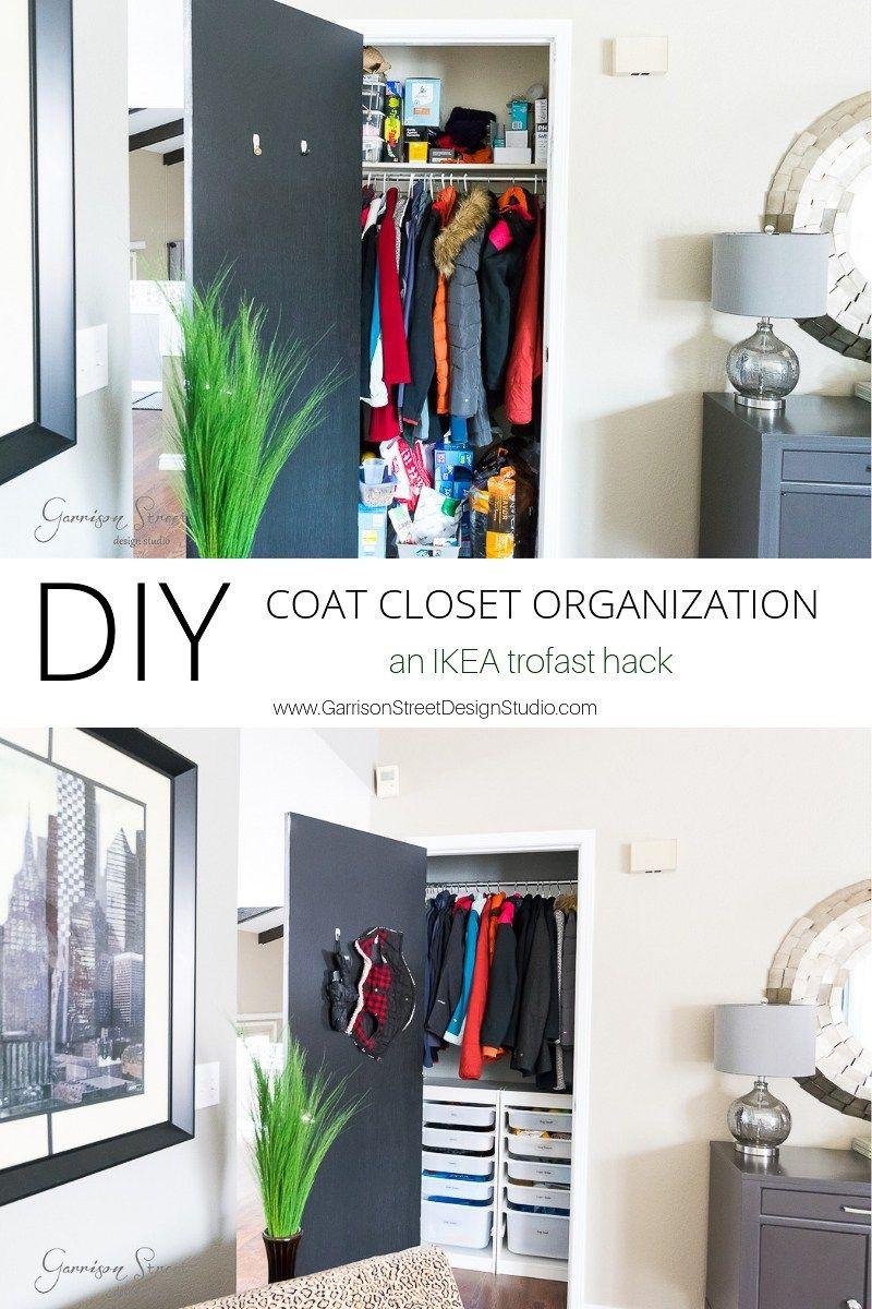 Diy Coat Closet Organization An Ikea Trofast Hack Garrisonstreetdesignstudio