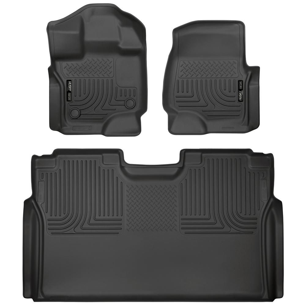 Husky Liners Front and 2nd Seat Floor Liners Fits 201519