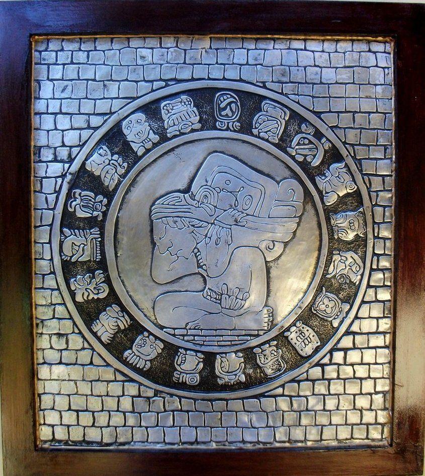 Tzolkin Sagrado - Quadro produzido em alumínio a partir da releitura de um dos componentes do sagrado calendário Maia.