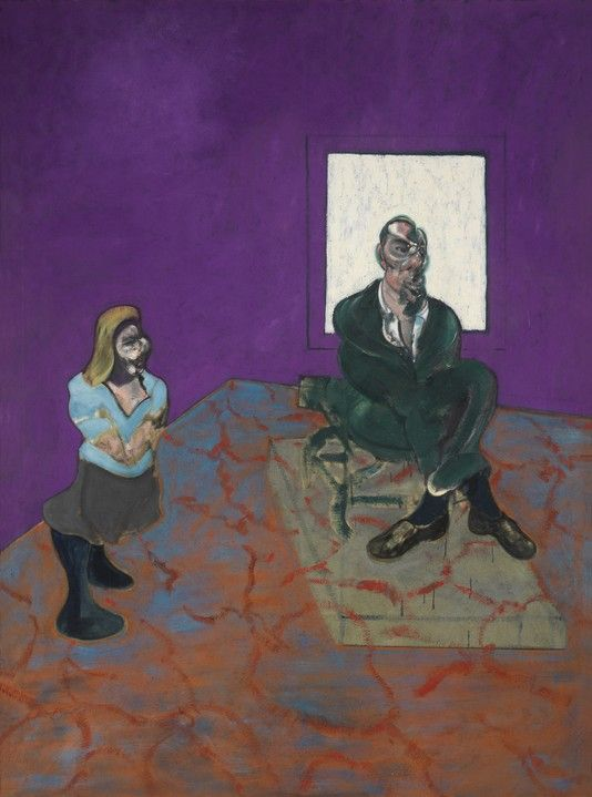 'Man and Child' by Francis Bacon (1963)  Art Experience NYC  www.artexperiencenyc.com/social_login/?utm_source=pinterest_medium=pins_content=pinterest_pins_campaign=pinterest_initial