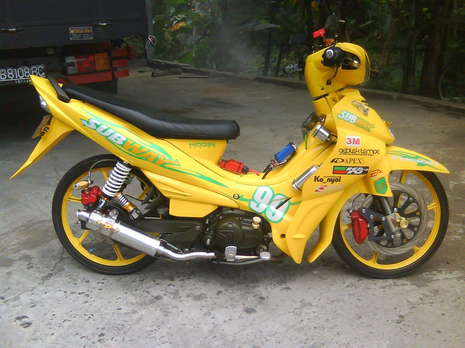 Koleksi Modifikasi Honda Beat Hitam Kuning Terbaru Kewak Motor