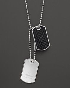 4d56fc325 Gucci Dog Tag Necklace, 23.6