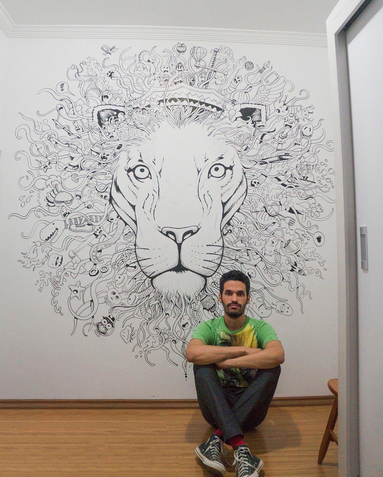 Resultado de imagem para desenho na parede