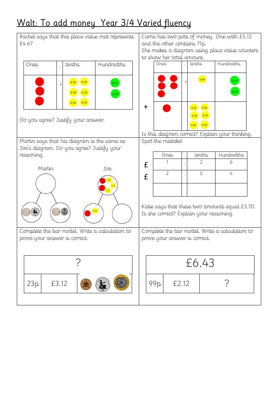 mastery maths adding money ks2 year 3 4 varied fluency problem solving 18 greater depth. Black Bedroom Furniture Sets. Home Design Ideas