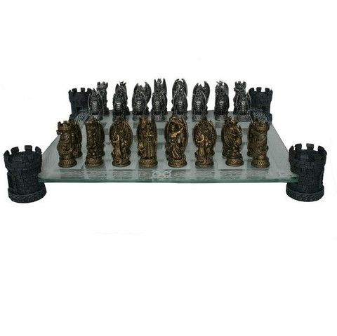 Nemesis Now 'Kingdom Of The Dragon' Chess Set
