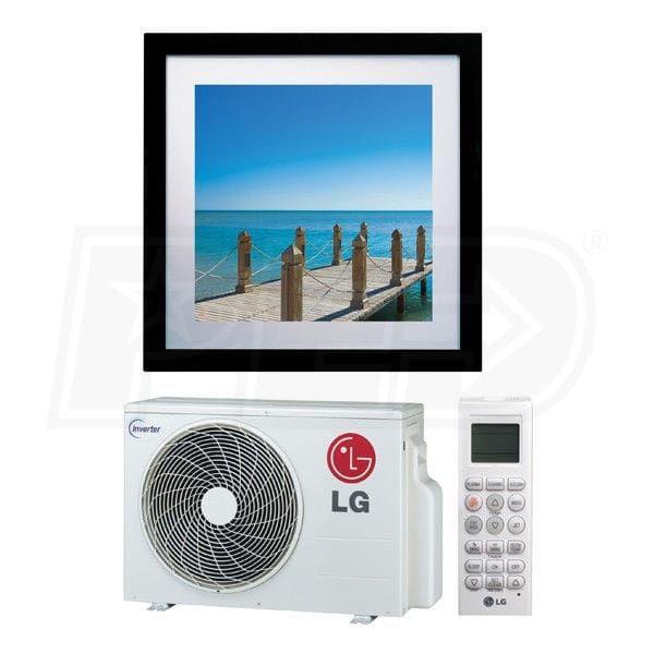 Lg La090hvp 9k Btu Cooling Heating Art Cool Gallery Wall Mounted Air Conditioning System 16 0 Seer Air Conditioning System Lg Art Cool Heat Pump System
