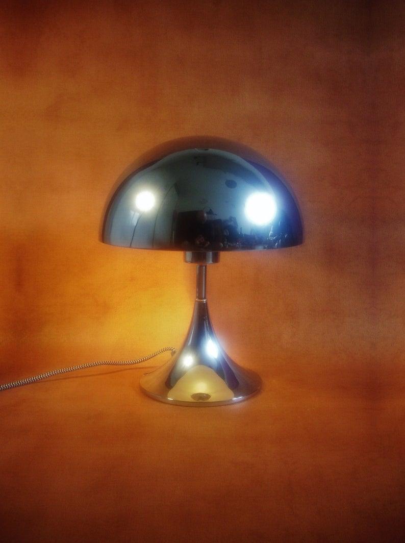 Vintage Verner Panton Style Panthella Lamp Space Age Mushroom Light In 2020 Panthella Lamp Lamp Mushroom Lights