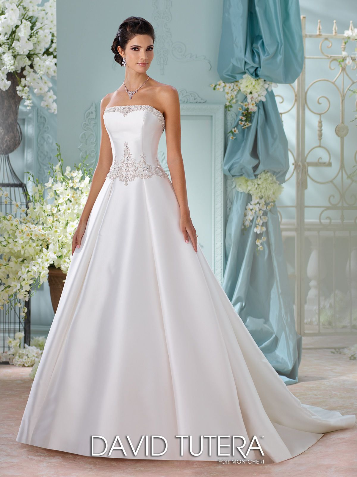 Hand-Beaded Mikado Ball Gown with Pockets Wedding Dress- 116223 ...
