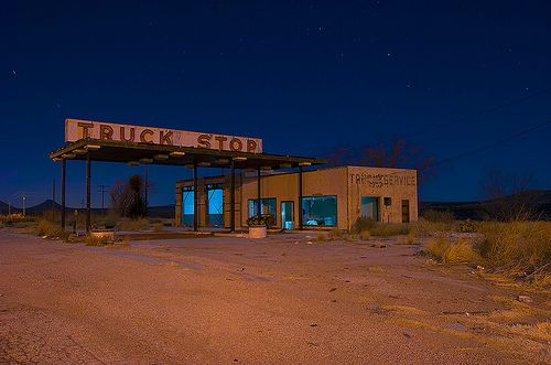 Deserted Truck Stop Old Gas Stations Big Trucks Gas Station