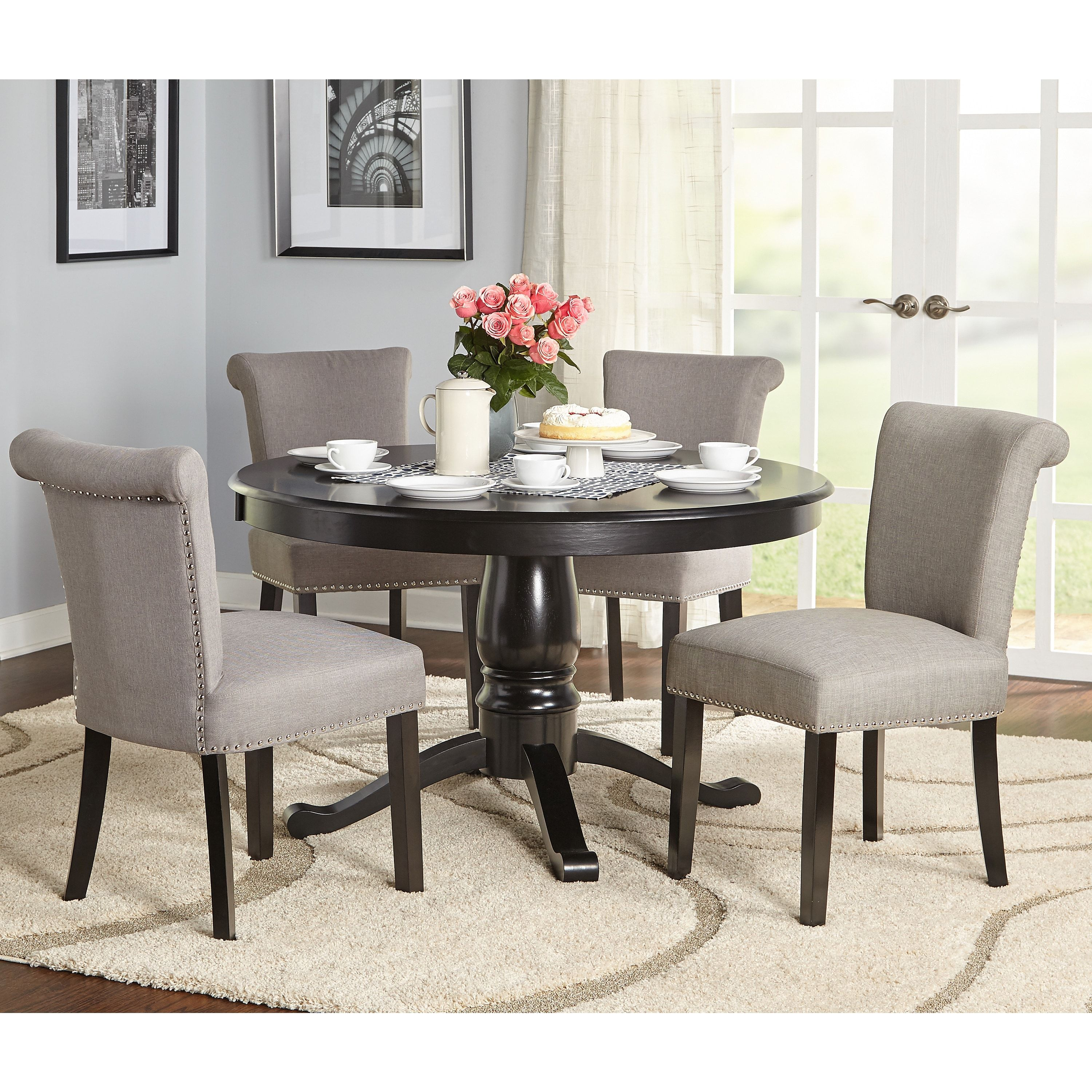 Simple Living 5-Piece Adeline Pedestal Dining Set | Overstock.com Shopping - The  sc 1 st  Pinterest & Simple Living 5-Piece Adeline Pedestal Dining Set | Overstock.com ...