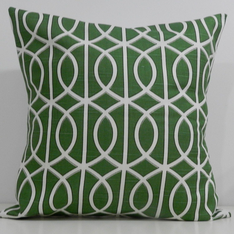 new x inch designer handmade pillow case dwell studio green  - new x inch designer handmade pillow case dwell studio green linklattice