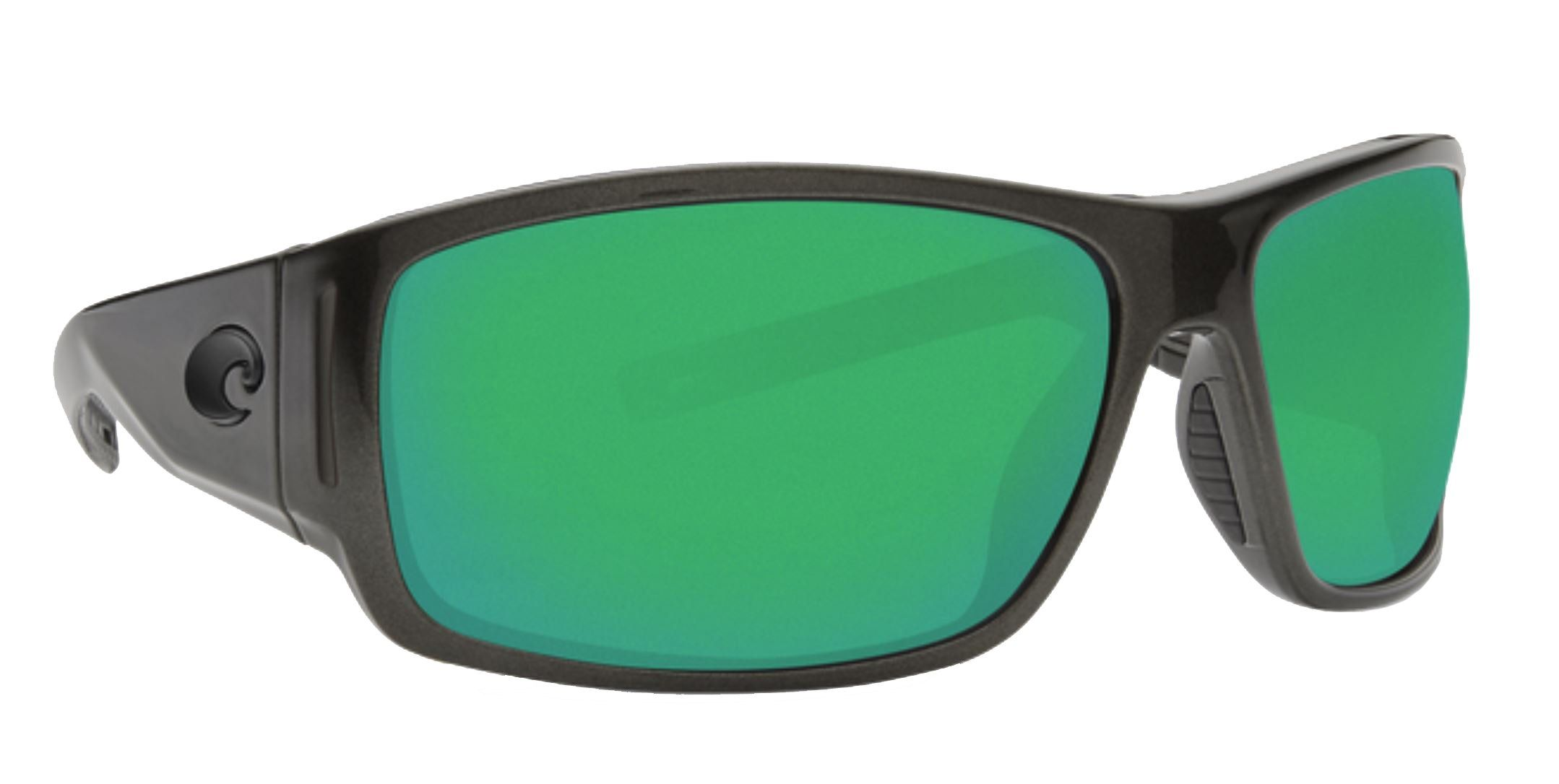 7164f67d1 Costa Del Mar Cape Sunglasses Shiny Steel Gray Metallic Frame Green Mirror  580P Plastic Lens * To view further for this item, visit the image link.