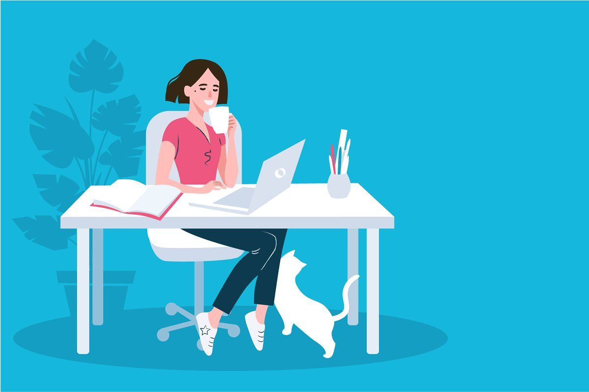 Working mother with daughter vector in 2020 Vector art