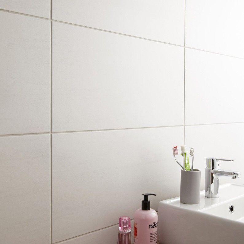 Carrelage Mur Et Sol Forte Beton Blanc Mat L 30 X L 60 4 Cm